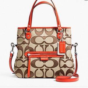 Coach Daisy Outline Mia Signature Leather Fabric Shoulder Crossbody Satchel bag